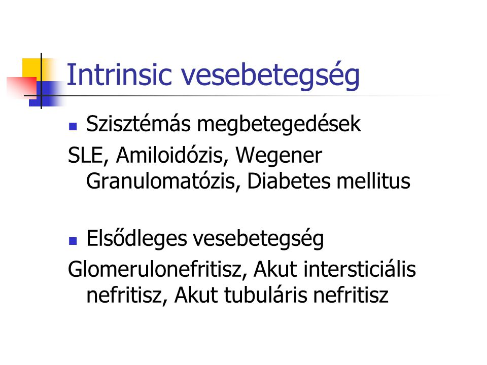 Intrinsic vesebetegség