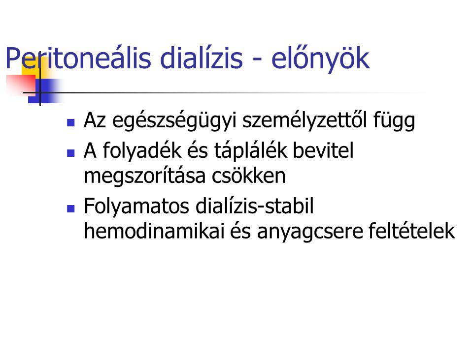 Peritoneális dialízis - előnyök