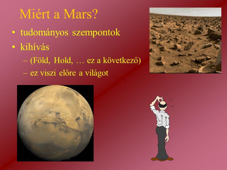 Miért a Mars tudományos szempontok kihívás