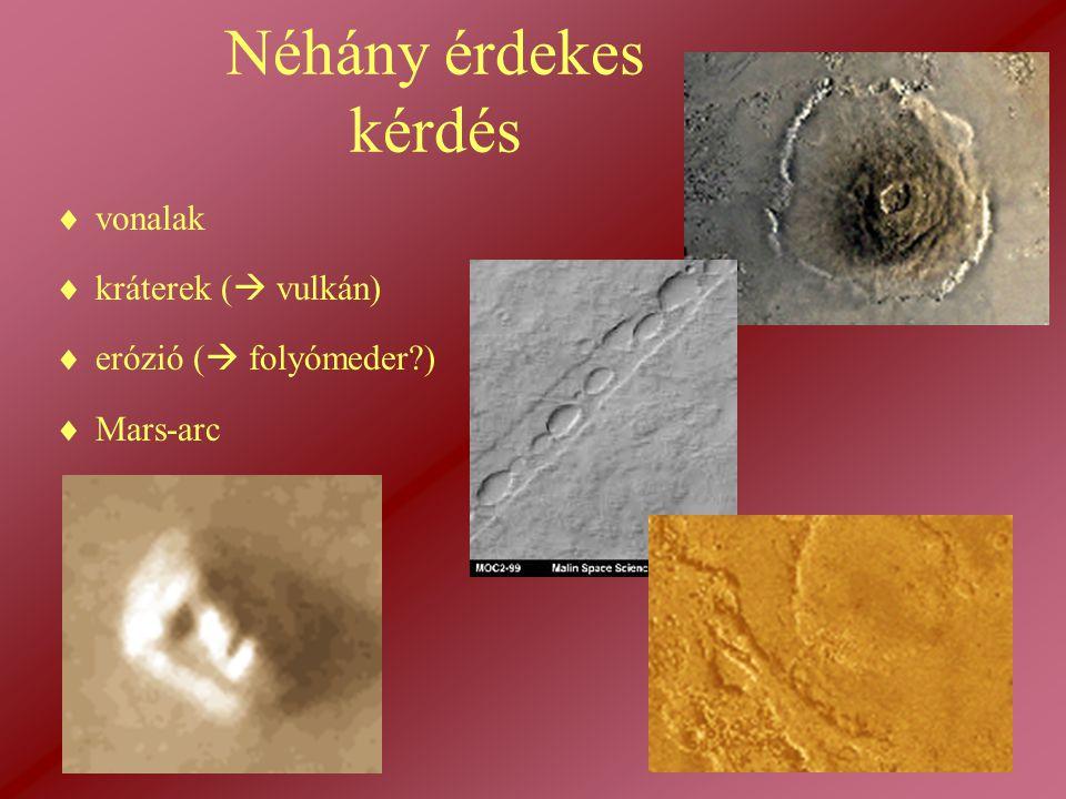Néhány érdekes kérdés vonalak kráterek ( vulkán)