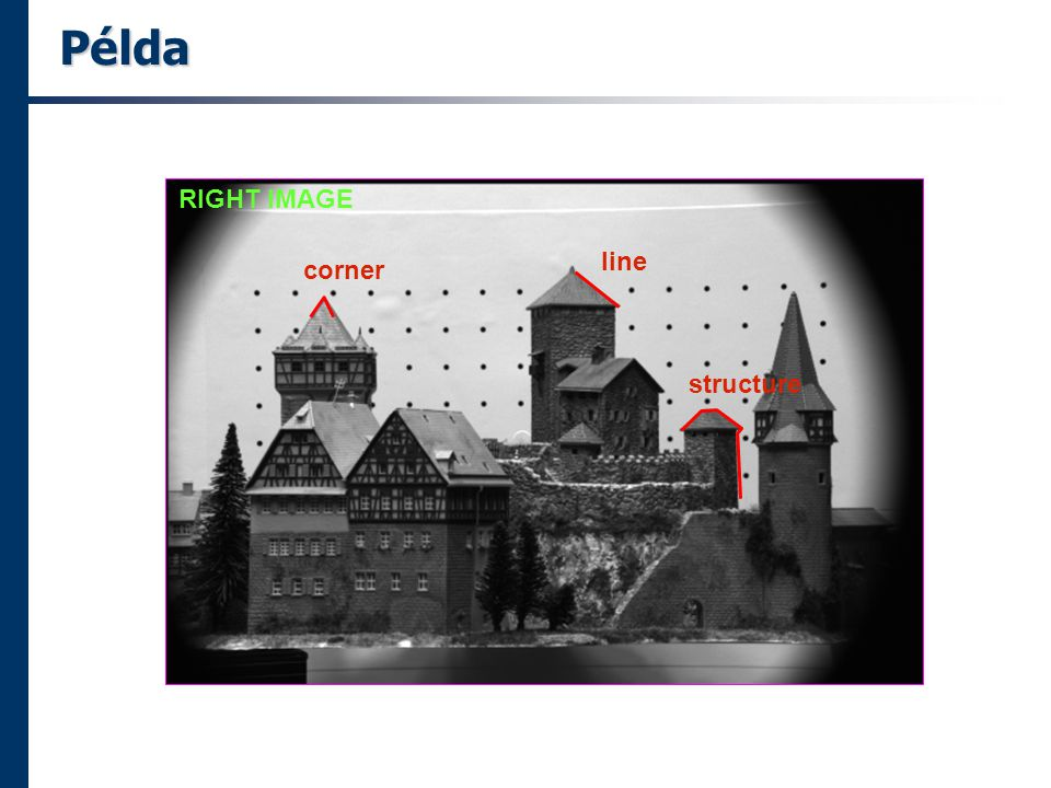 Példa RIGHT IMAGE corner line structure