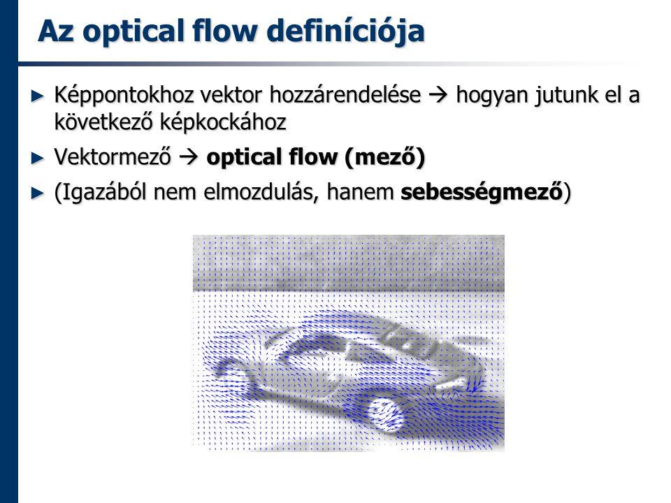 Az optical flow definíciója