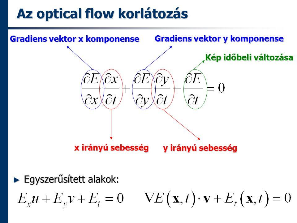 Az optical flow korlátozás