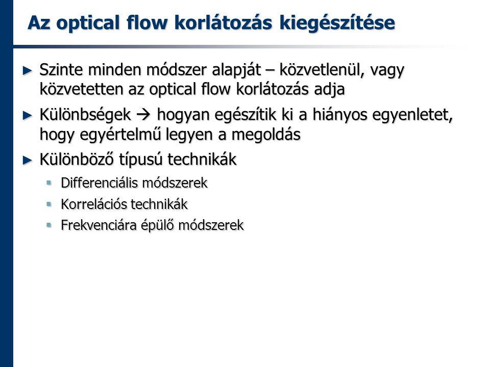 Az optical flow korlátozás kiegészítése