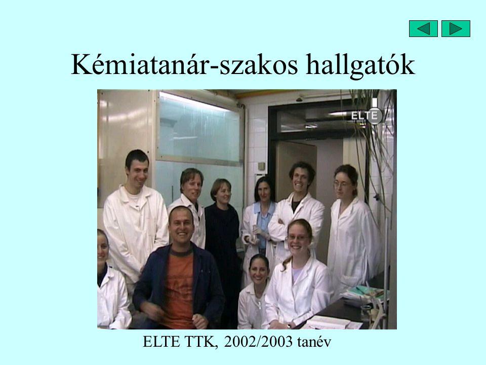 Kémiatanár-szakos hallgatók