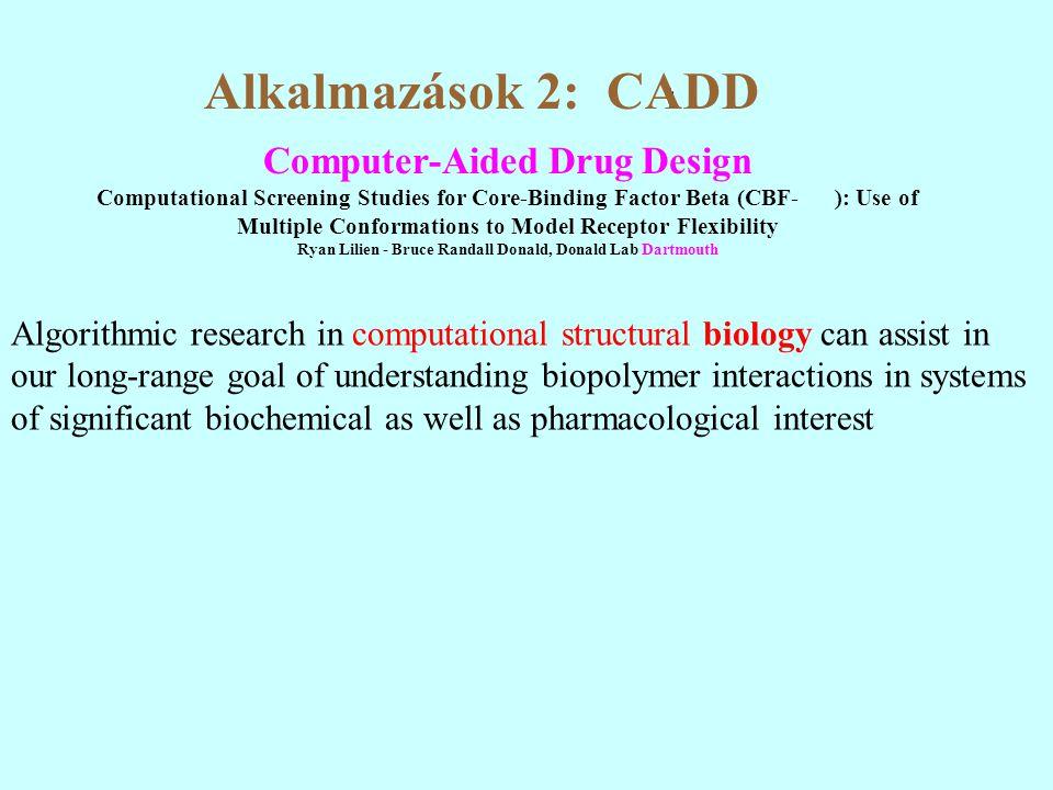 Alkalmazások 2: CADD Computer-Aided Drug Design