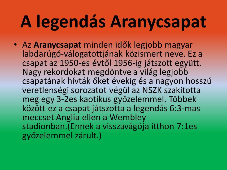 A legendás Aranycsapat