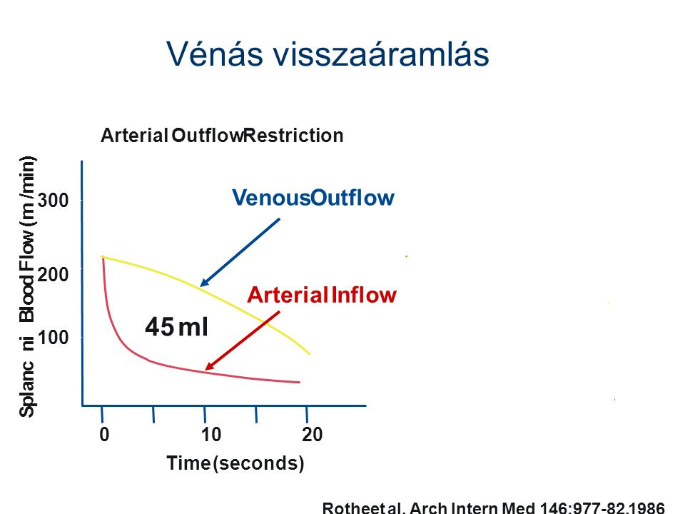 Vénás visszaáramlás 45 ml Venous Outflow Arterial Inflow Arterial
