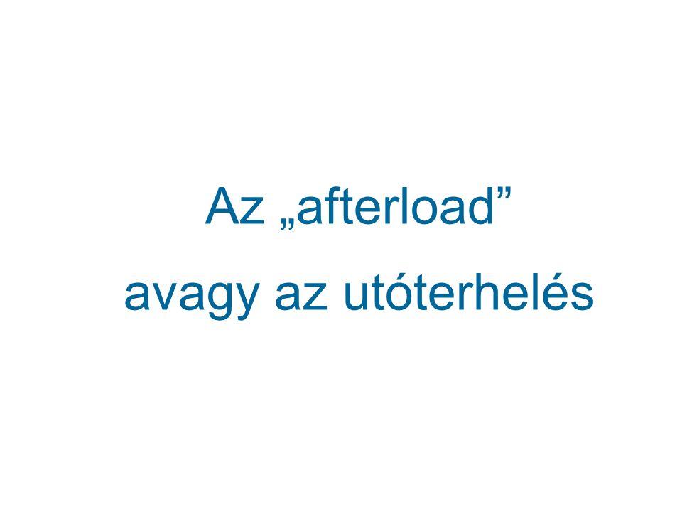 """Az """"afterload avagy az utóterhelés"""