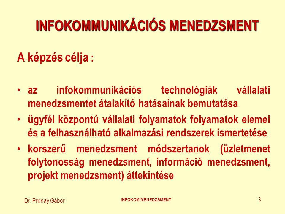 INFOKOMMUNIKÁCIÓS MENEDZSMENT