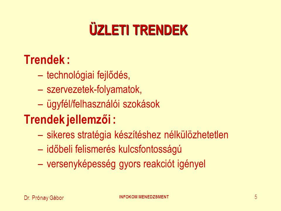 ÜZLETI TRENDEK Trendek : Trendek jellemzői : technológiai fejlődés,