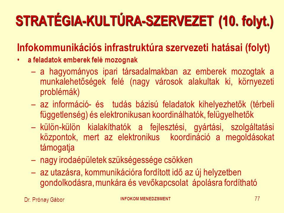 STRATÉGIA-KULTÚRA-SZERVEZET (10. folyt.)