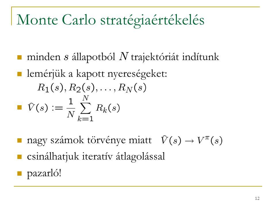 Monte Carlo stratégiaértékelés