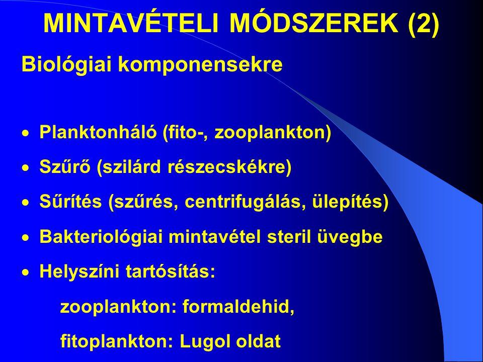 MINTAVÉTELI MÓDSZEREK (2)
