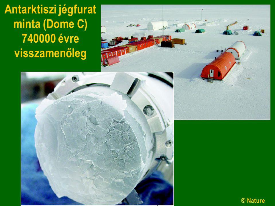 Antarktiszi jégfurat minta (Dome C)