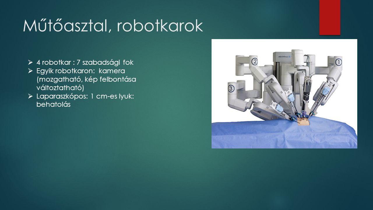 Műtőasztal, robotkarok