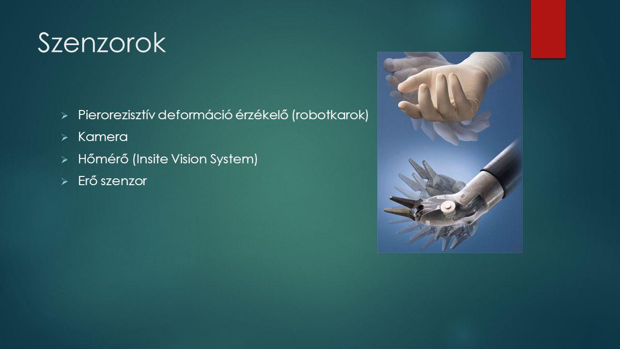 Szenzorok Pierorezisztív deformáció érzékelő (robotkarok) Kamera