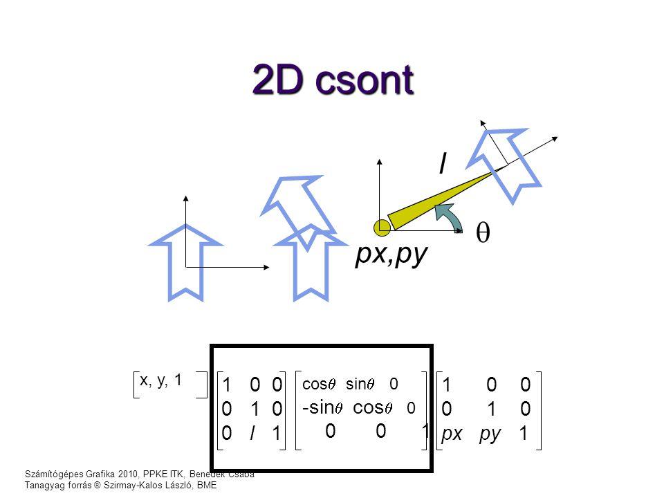 2D csont l  px,py 1 0 0 0 1 0 0 l 1 -sin cos 0 0 0 1 1 0 0 0 1 0