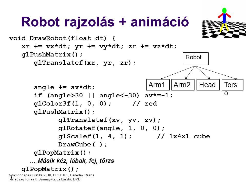 Robot rajzolás + animáció