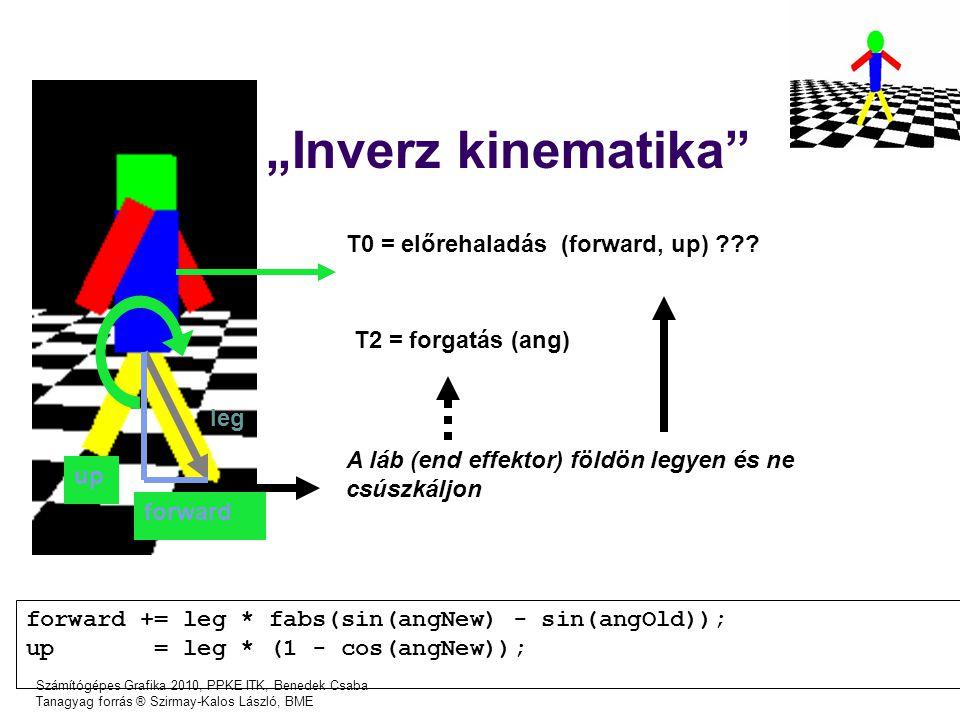 """""""Inverz kinematika T0 = előrehaladás (forward, up)"""