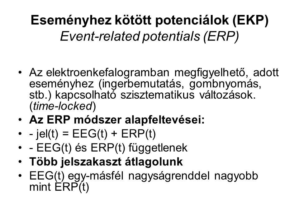Eseményhez kötött potenciálok (EKP) Event-related potentials (ERP)