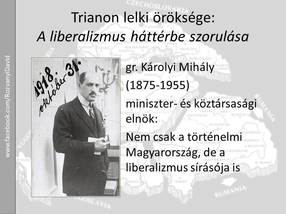 Trianon lelki öröksége: A liberalizmus háttérbe szorulása