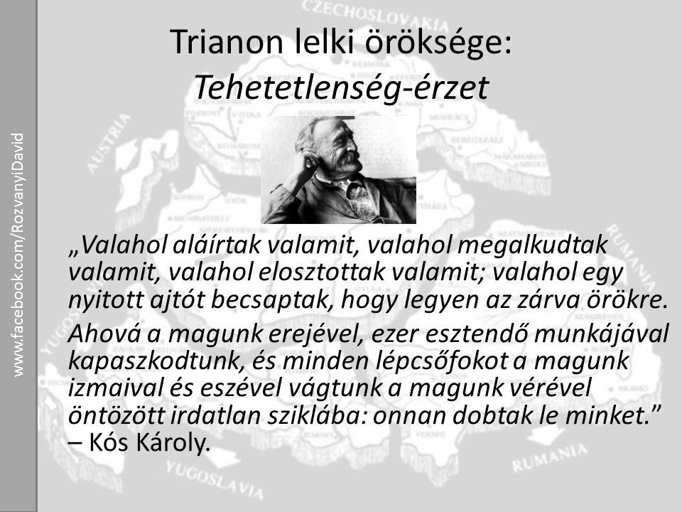 Trianon lelki öröksége: Tehetetlenség-érzet
