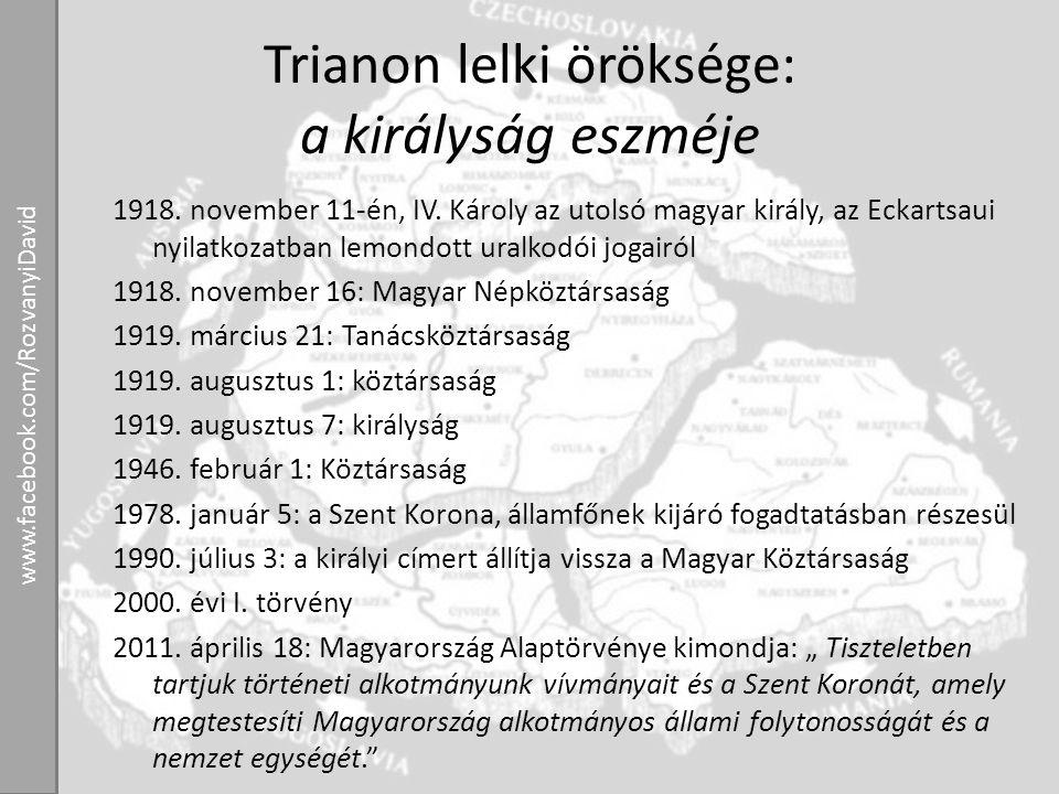 Trianon lelki öröksége: a királyság eszméje