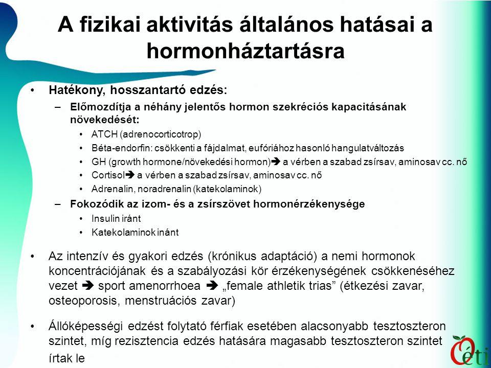 A fizikai aktivitás általános hatásai a hormonháztartásra