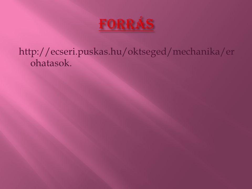 Forrás http://ecseri.puskas.hu/oktseged/mechanika/erohatasok.
