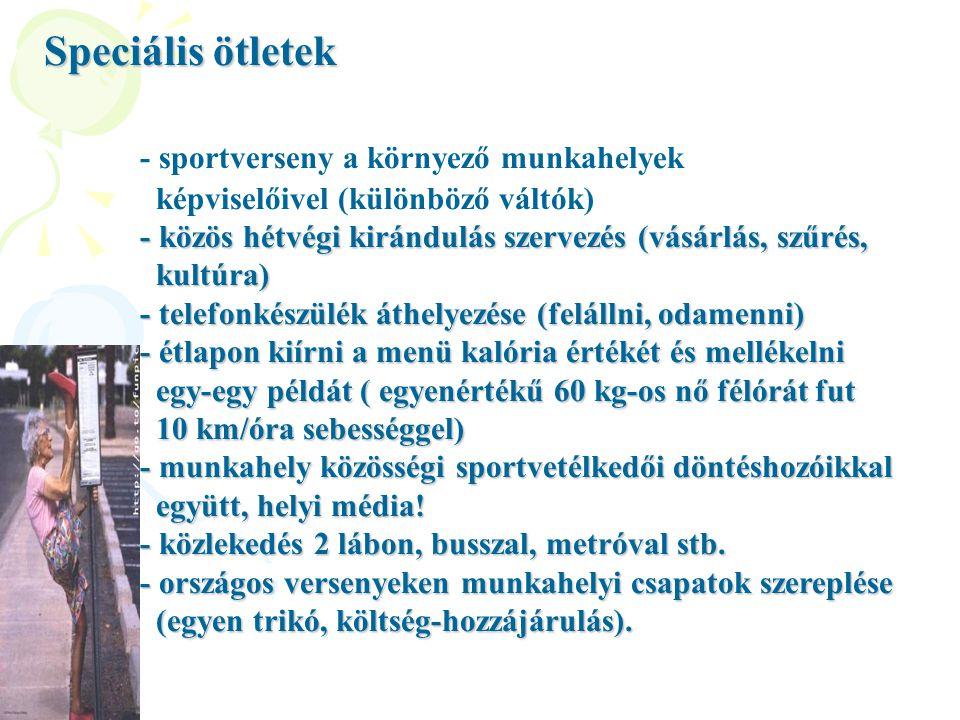 - sportverseny a környező munkahelyek