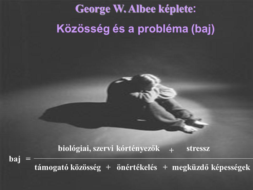 George W. Albee képlete: Közösség és a probléma (baj)