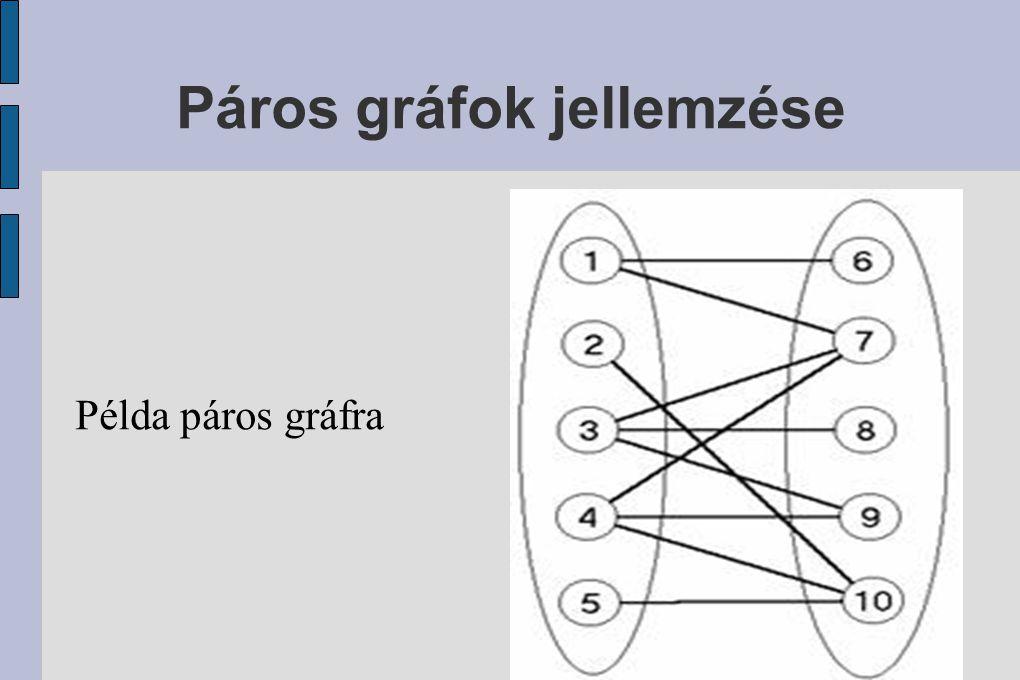 Páros gráfok jellemzése