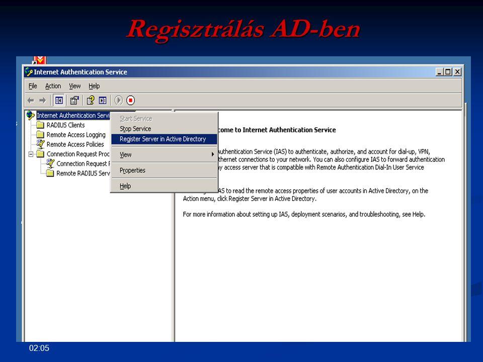 Regisztrálás AD-ben 09:35
