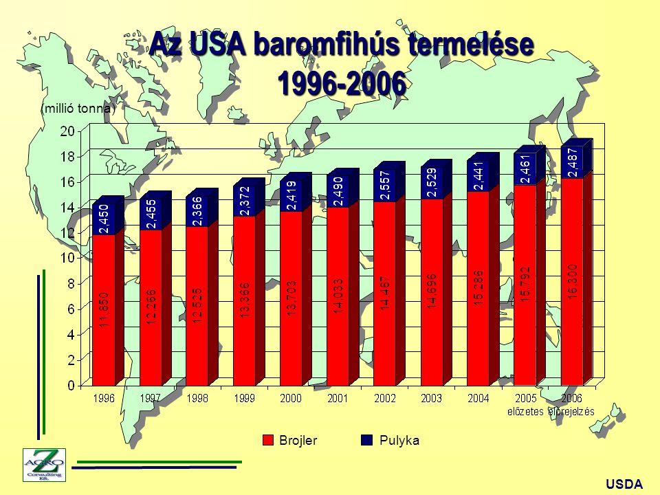 Az USA baromfihús termelése