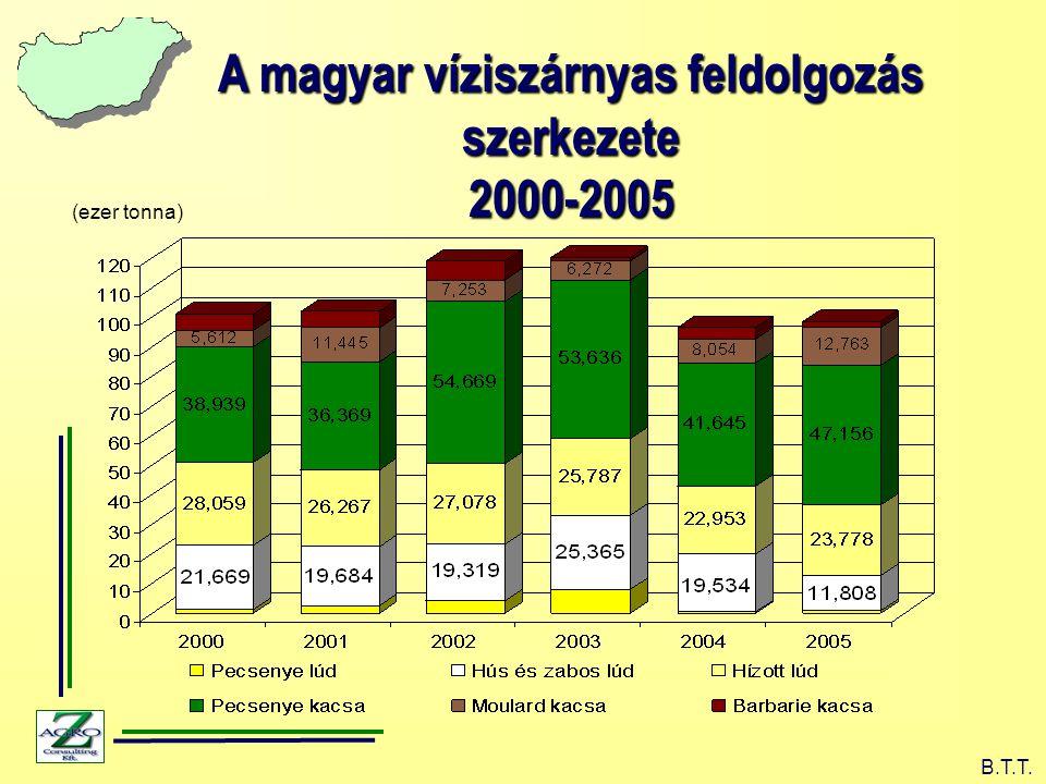 A magyar víziszárnyas feldolgozás szerkezete