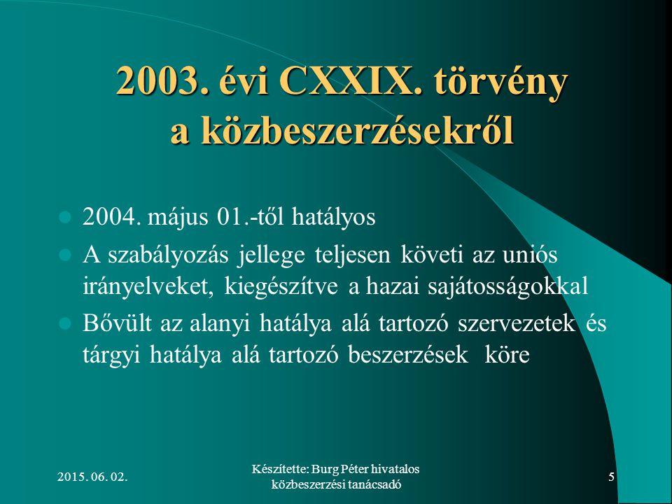 2003. évi CXXIX. törvény a közbeszerzésekről