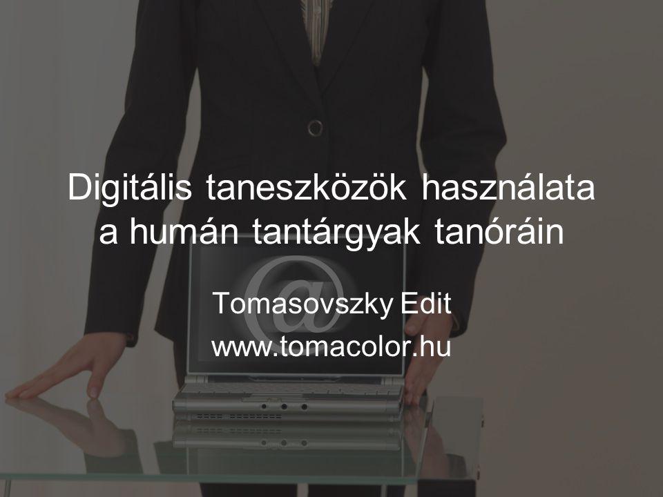 Digitális taneszközök használata a humán tantárgyak tanóráin