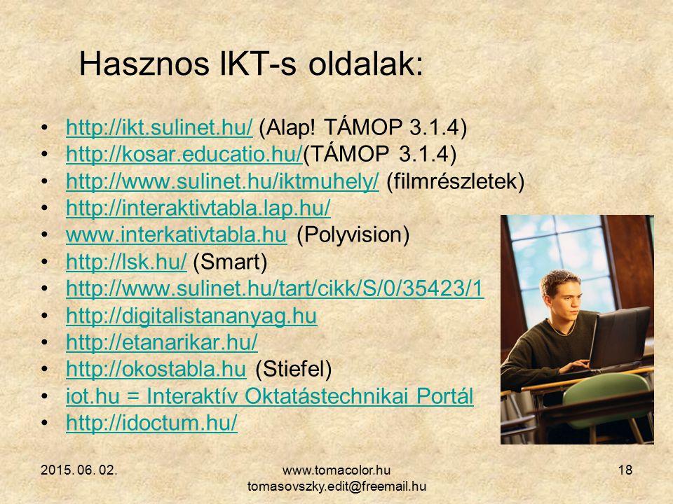 Hasznos IKT-s oldalak: