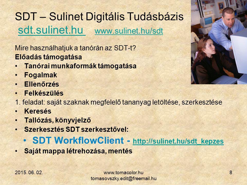 SDT – Sulinet Digitális Tudásbázis sdt.sulinet.hu www.sulinet.hu/sdt