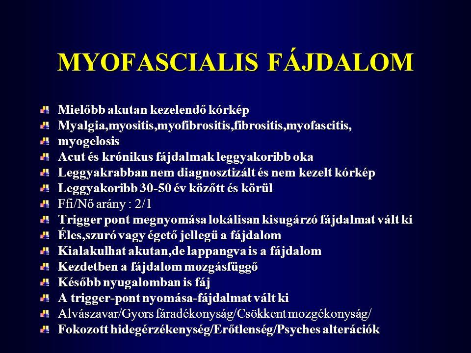 MYOFASCIALIS FÁJDALOM