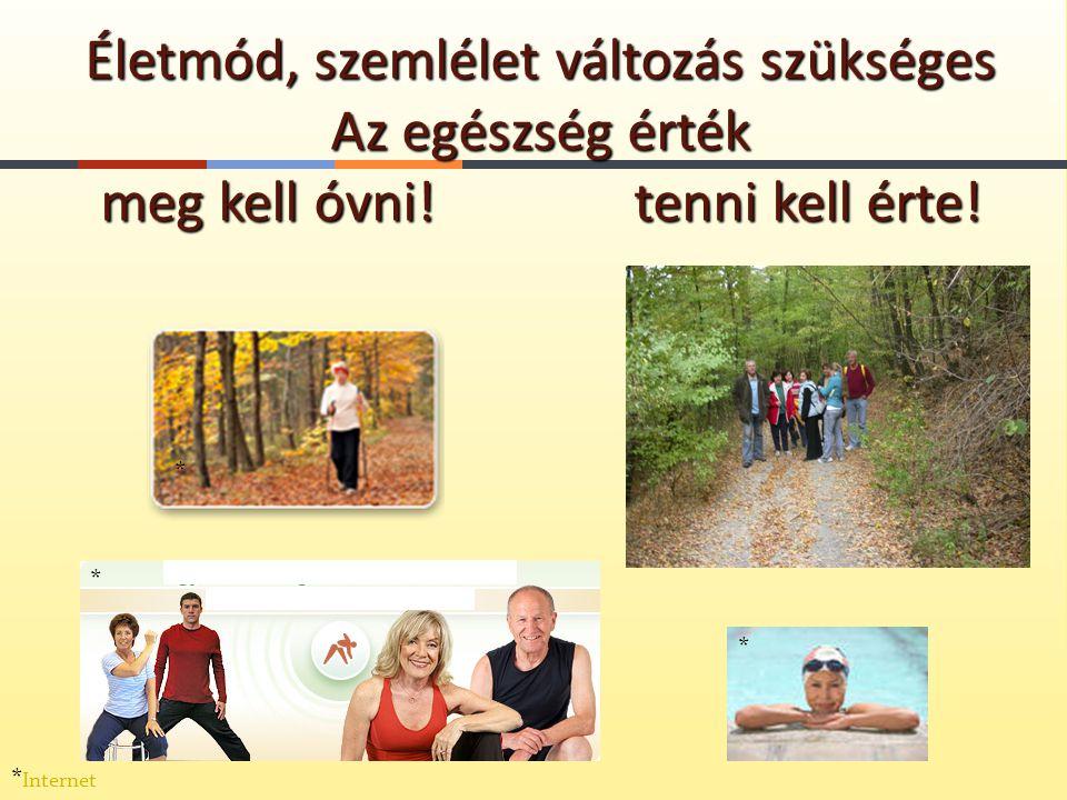 Életmód, szemlélet változás szükséges Az egészség érték meg kell óvni