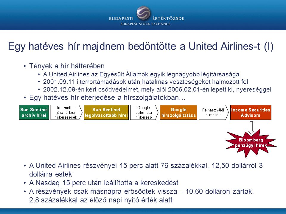 Egy hatéves hír majdnem bedöntötte a United Airlines-t (I)