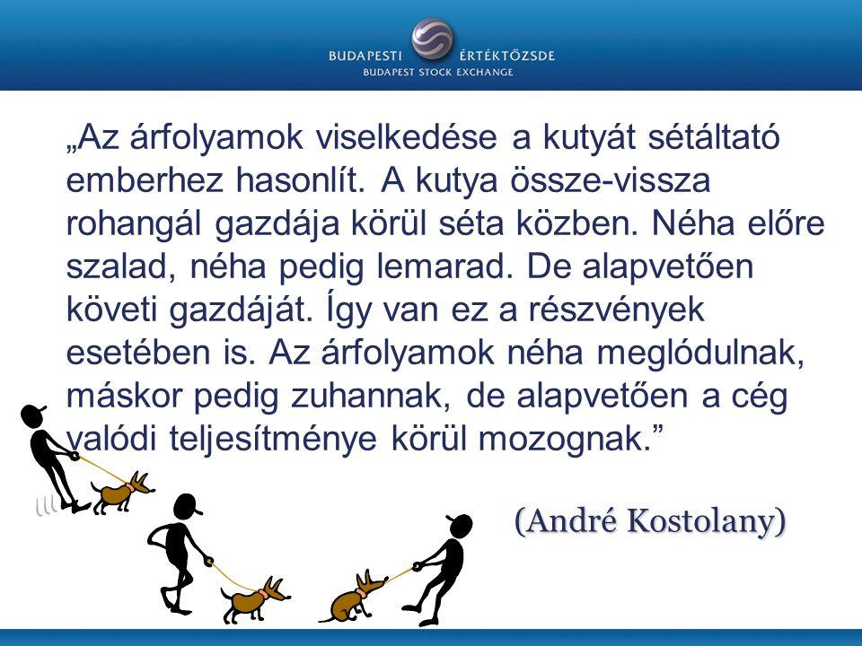 """""""Az árfolyamok viselkedése a kutyát sétáltató emberhez hasonlít"""