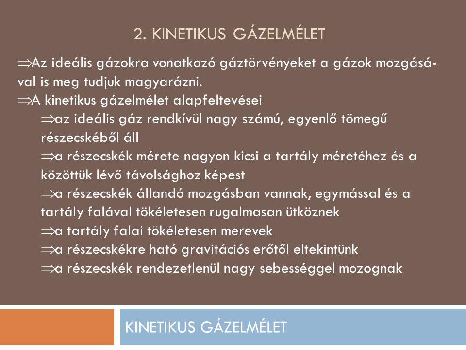 2. KINETIKUS GÁZELMÉLET KINETIKUS GÁZELMÉLET