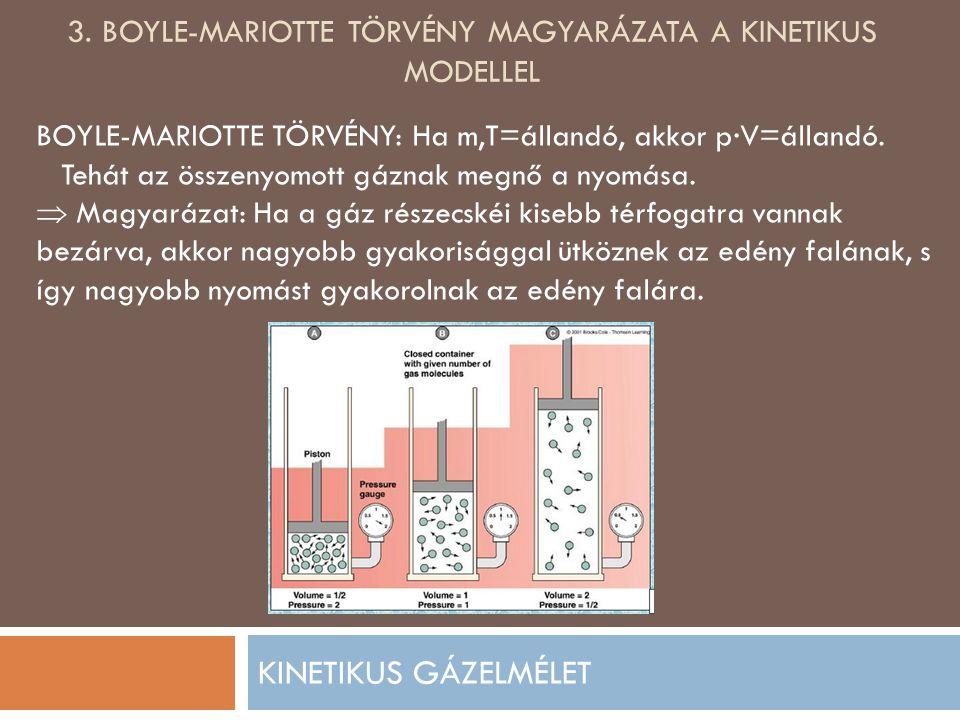 3. Boyle-mariotte törvény magyarázata a kinetikus modellel