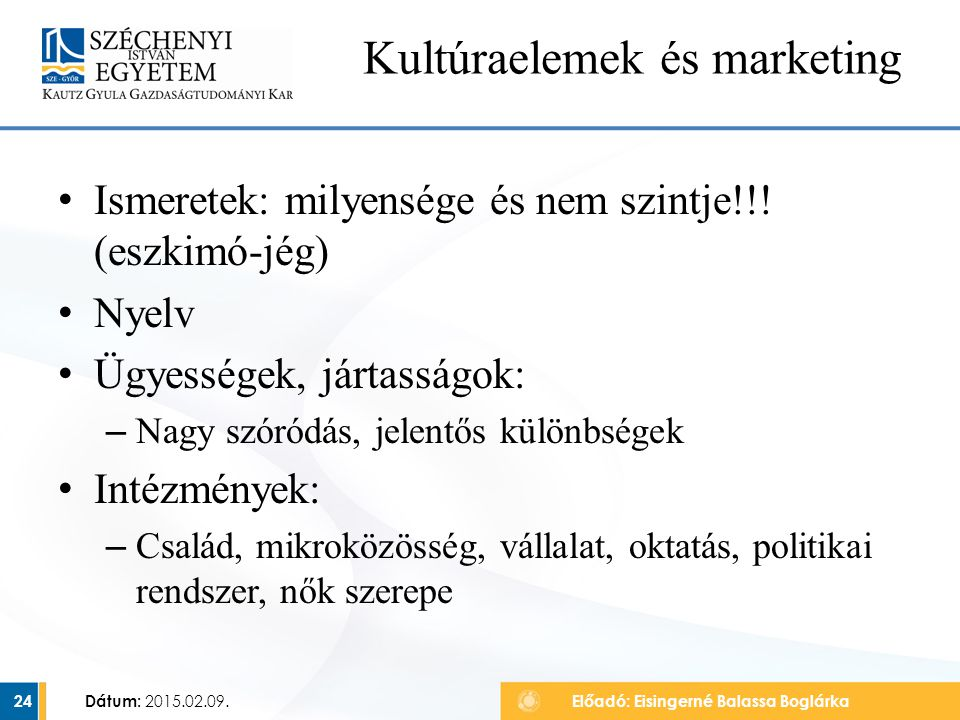 Kultúraelemek és marketing