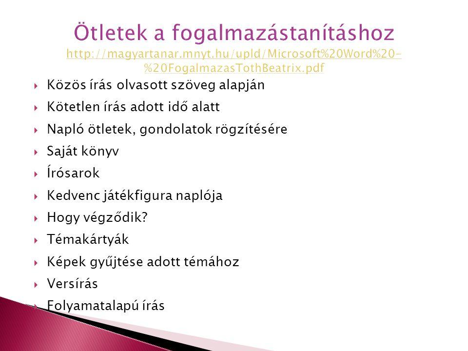 Ötletek a fogalmazástanításhoz http://magyartanar. mnyt