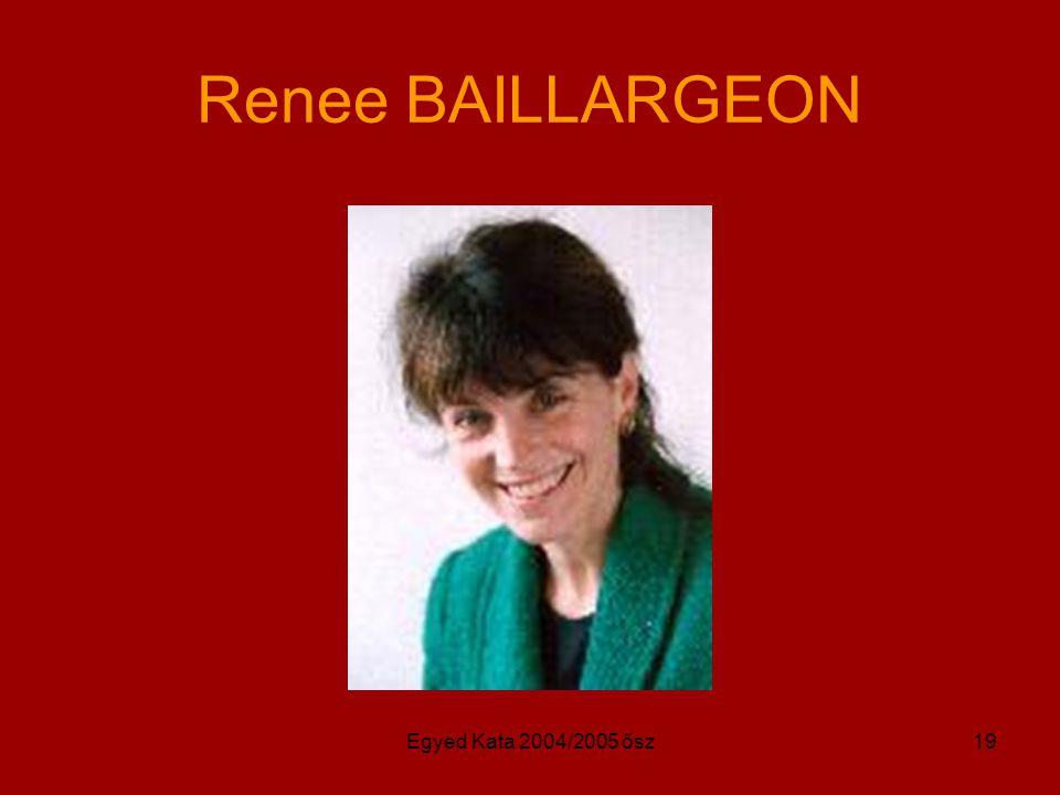 Renee BAILLARGEON Egyed Kata 2004/2005 ősz