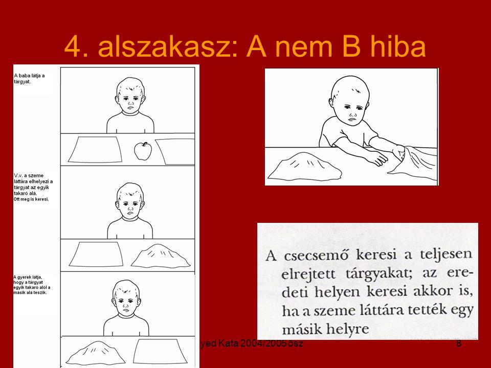 4. alszakasz: A nem B hiba Egyed Kata 2004/2005 ősz